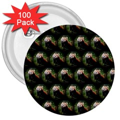 Cute Animal Drops   Red Panda 3  Buttons (100 Pack)