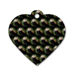 Cute Animal Drops   Red Panda Dog Tag Heart (one Side)