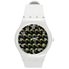 Cute Animal Drops   Red Panda Round Plastic Sport Watch (m)
