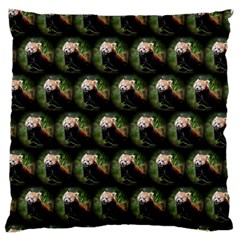 Cute Animal Drops   Red Panda Large Cushion Case (two Sides)