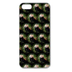 Cute Animal Drops   Red Panda Apple Seamless Iphone 5 Case (clear)