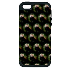Cute Animal Drops   Red Panda Apple Iphone 5 Hardshell Case (pc+silicone)