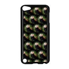 Cute Animal Drops   Red Panda Apple Ipod Touch 5 Case (black)