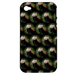 Cute Animal Drops   Red Panda Apple Iphone 4/4s Hardshell Case (pc+silicone)