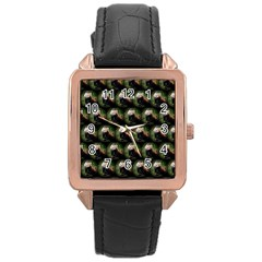 Cute Animal Drops   Red Panda Rose Gold Leather Watch