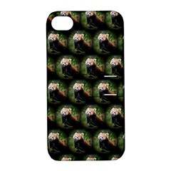 Cute Animal Drops   Red Panda Apple Iphone 4/4s Hardshell Case With Stand