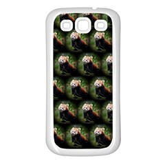 Cute Animal Drops   Red Panda Samsung Galaxy S3 Back Case (white)