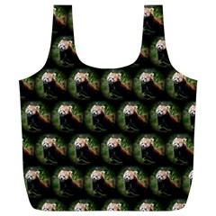 Cute Animal Drops   Red Panda Full Print Recycle Bags (l)