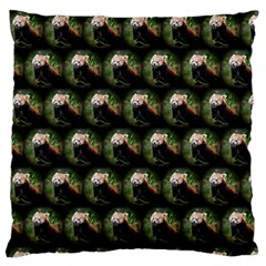 Cute Animal Drops   Red Panda Large Flano Cushion Case (one Side)
