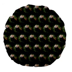 Cute Animal Drops   Red Panda Large 18  Premium Flano Round Cushions