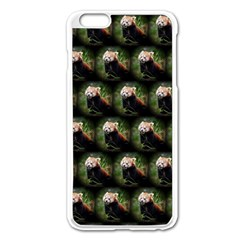 Cute Animal Drops   Red Panda Apple Iphone 6 Plus/6s Plus Enamel White Case