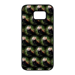 Cute Animal Drops   Red Panda Samsung Galaxy S7 Edge Black Seamless Case