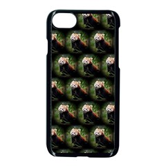 Cute Animal Drops   Red Panda Apple Iphone 7 Seamless Case (black)