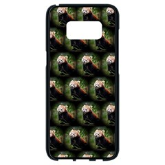 Cute Animal Drops   Red Panda Samsung Galaxy S8 Black Seamless Case