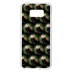 Cute Animal Drops   Red Panda Samsung Galaxy S8 Plus White Seamless Case