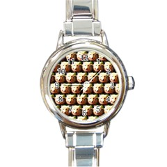 Cute Animal Drops   Wolf Round Italian Charm Watch