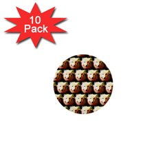 Cute Animal Drops   Wolf 1  Mini Buttons (10 Pack)