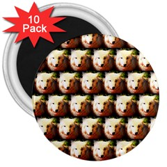 Cute Animal Drops   Wolf 3  Magnets (10 Pack)