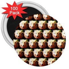 Cute Animal Drops   Wolf 3  Magnets (100 Pack)
