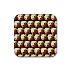 Cute Animal Drops   Wolf Rubber Square Coaster (4 Pack)