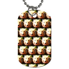Cute Animal Drops   Wolf Dog Tag (two Sides)