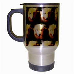 Cute Animal Drops   Wolf Travel Mug (silver Gray)