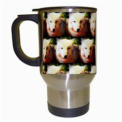 Cute Animal Drops   Wolf Travel Mugs (white)