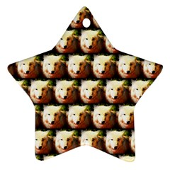 Cute Animal Drops   Wolf Star Ornament (two Sides)