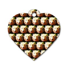 Cute Animal Drops   Wolf Dog Tag Heart (one Side)