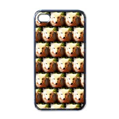 Cute Animal Drops   Wolf Apple Iphone 4 Case (black)