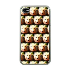Cute Animal Drops   Wolf Apple Iphone 4 Case (clear)