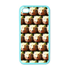Cute Animal Drops   Wolf Apple Iphone 4 Case (color)