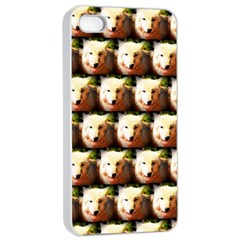 Cute Animal Drops   Wolf Apple Iphone 4/4s Seamless Case (white)