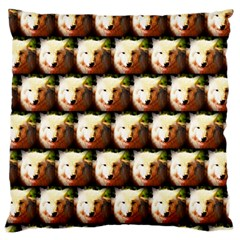 Cute Animal Drops   Wolf Large Cushion Case (two Sides)