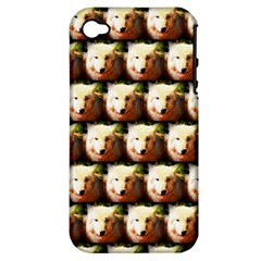 Cute Animal Drops   Wolf Apple Iphone 4/4s Hardshell Case (pc+silicone)