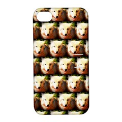Cute Animal Drops   Wolf Apple Iphone 4/4s Hardshell Case With Stand