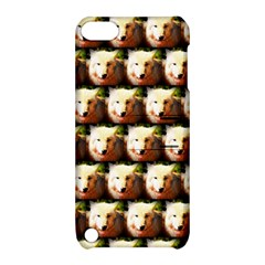 Cute Animal Drops   Wolf Apple Ipod Touch 5 Hardshell Case With Stand