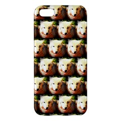 Cute Animal Drops   Wolf Apple Iphone 5 Premium Hardshell Case