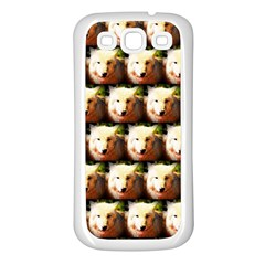 Cute Animal Drops   Wolf Samsung Galaxy S3 Back Case (white)