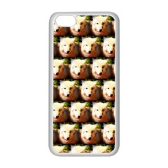Cute Animal Drops   Wolf Apple Iphone 5c Seamless Case (white)