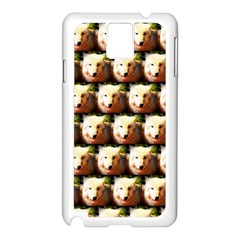 Cute Animal Drops   Wolf Samsung Galaxy Note 3 N9005 Case (white)