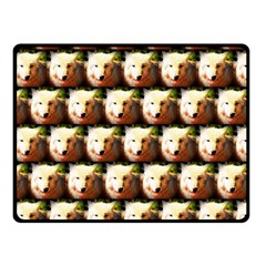 Cute Animal Drops   Wolf Double Sided Fleece Blanket (small)
