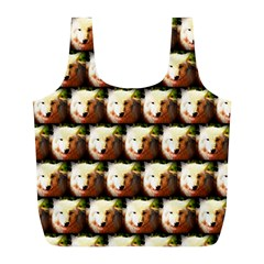 Cute Animal Drops   Wolf Full Print Recycle Bags (l)