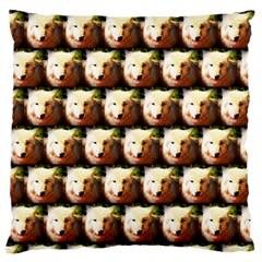 Cute Animal Drops   Wolf Large Flano Cushion Case (one Side)