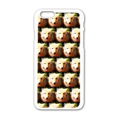 Cute Animal Drops   Wolf Apple Iphone 6/6s White Enamel Case