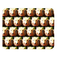 Cute Animal Drops   Wolf Double Sided Flano Blanket (large)