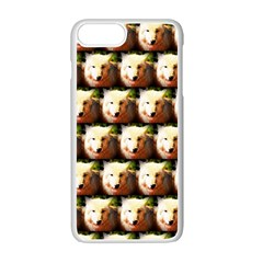 Cute Animal Drops   Wolf Apple Iphone 7 Plus White Seamless Case