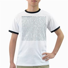 Word Search Name Tag   100 Common Male Names Ringer T Shirts