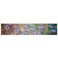 Texture Flowers Glitter  Flano Scarf (small)