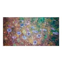 Texture Flowers Glitter  Satin Shawl